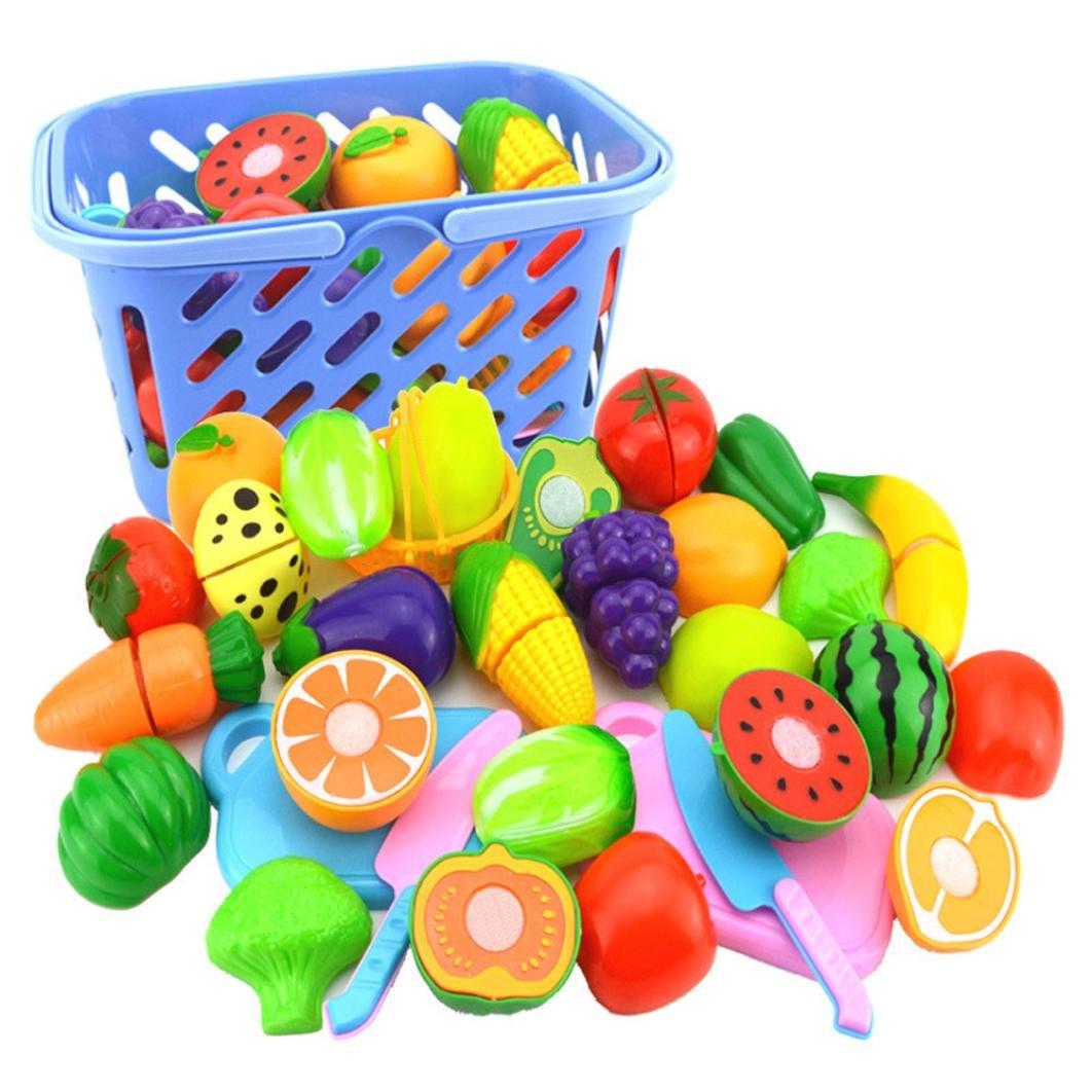 Xshuai Kinder Rollenspiel Küche Obst Gemüse Lebensmittel Spielzeug ...
