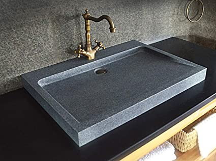 Marvelous Livingroc Corsica Grey Granite Stone Bathroom Sink Single Download Free Architecture Designs Scobabritishbridgeorg