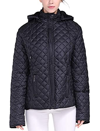 7c8c3c4797f Amazon.com  Flygo Women s Winter Plus Size Warm Quilted Down Parka Jacket  Outwear  Clothing