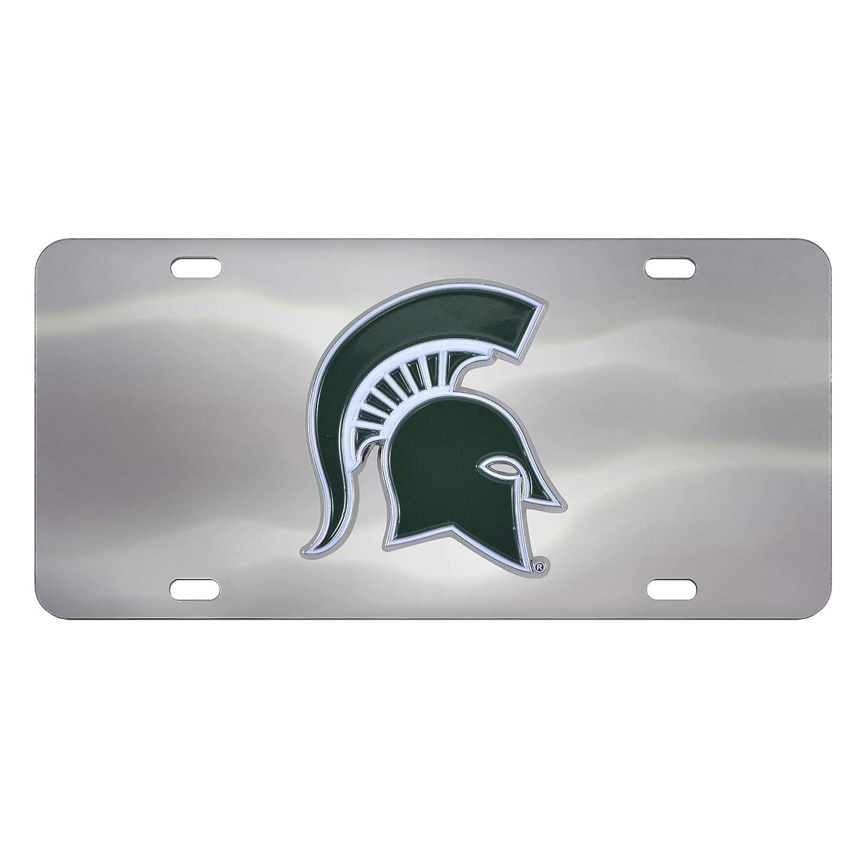 Michigan State Spartans 3D Logo Chrome License Plate