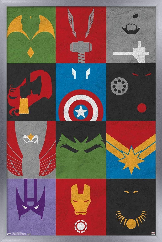 Trends International Marvel Comics - Avengers - Minimalist Grid Wall Poster, 22.375
