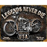 Legends - Never Die Tin Sign , 16x12