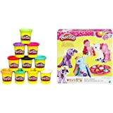 Play-Doh 10-Pack of Colors (Amazon Exclusive) with Play-Doh My Little Pony Make 'n Style Ponies Bundle