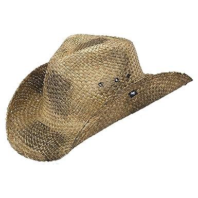 Peter Grimm Natural Straw Maverick Drifter Cowboy Hat - Black at ... 888a14a41574