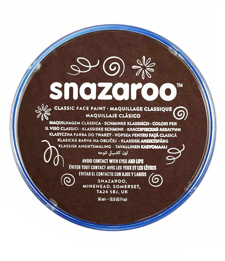 18ml Brown Snazaroo High Quality Face Make Up Paint for Parties & Fancy Dress