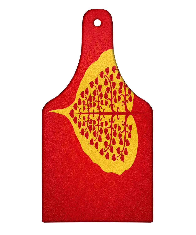 Amazon.com: Ambesonne Leaf Cutting Board, Artistic Design of ...