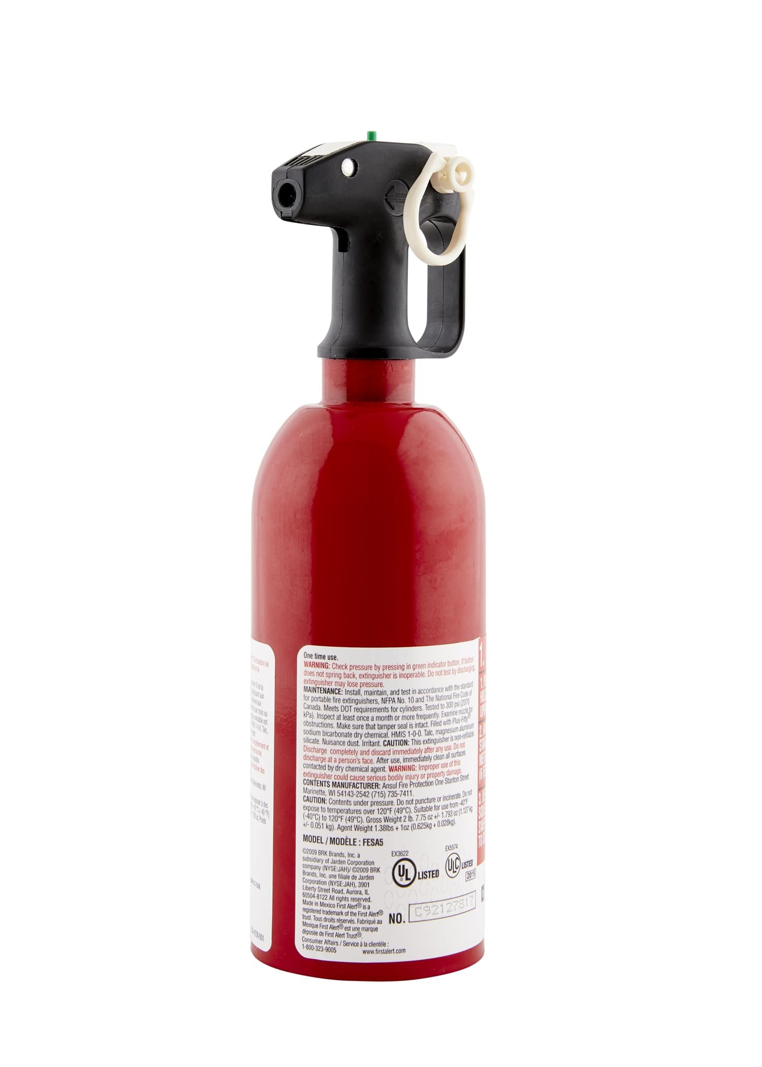 First Alert AUTO5 Auto Fire Extinguisher, Red by First Alert (Image #5)