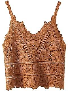 d473a2adbd789d CHARLES RICHARDS Women s Retro V-Neck Velvet Cami Camisole Short Spaghetti  Strap Women s ...