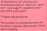 GTs, Organic Classic Kombucha Raspberry, 16.2 Fl Oz