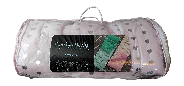 "Cynthia Rowley Girls Sleepingバッグ(ラベンダー/パープルwithシルバーメタリックHearts ) 26 "" x 57 "" B079JDJ42L"