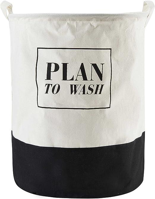 Cubo plegable de lino y algodón de LAAT, cesta para la ropa sucia ...
