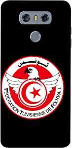 ColorKing Football Tunisia 04 Black shell case cover for LG G6