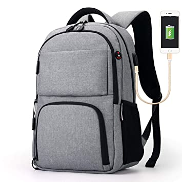 8a4a6770dbe7 Amazon.com: Reichlixin Waterproof Backpack with USB Charging Port ...