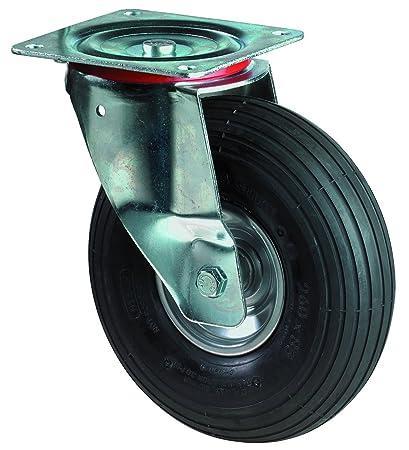 BS ruedas de transporte Rueda Giratoria, atornillable, rueda, cuerpo de acero, 260