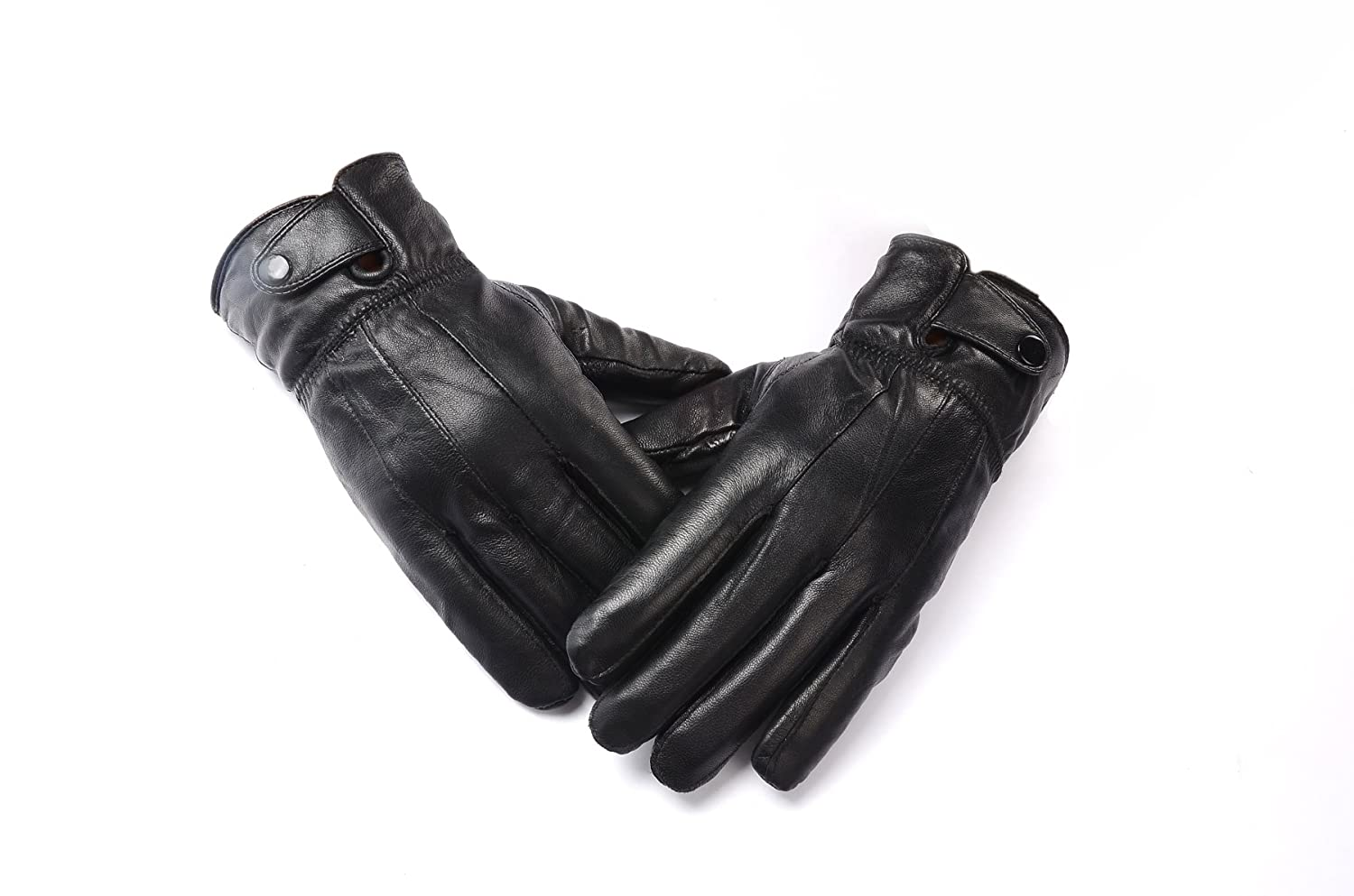Mens leather gloves black friday - Anccion Men S Genuine Leather Warm Lined Driving Gloves Motorcycle Gloves