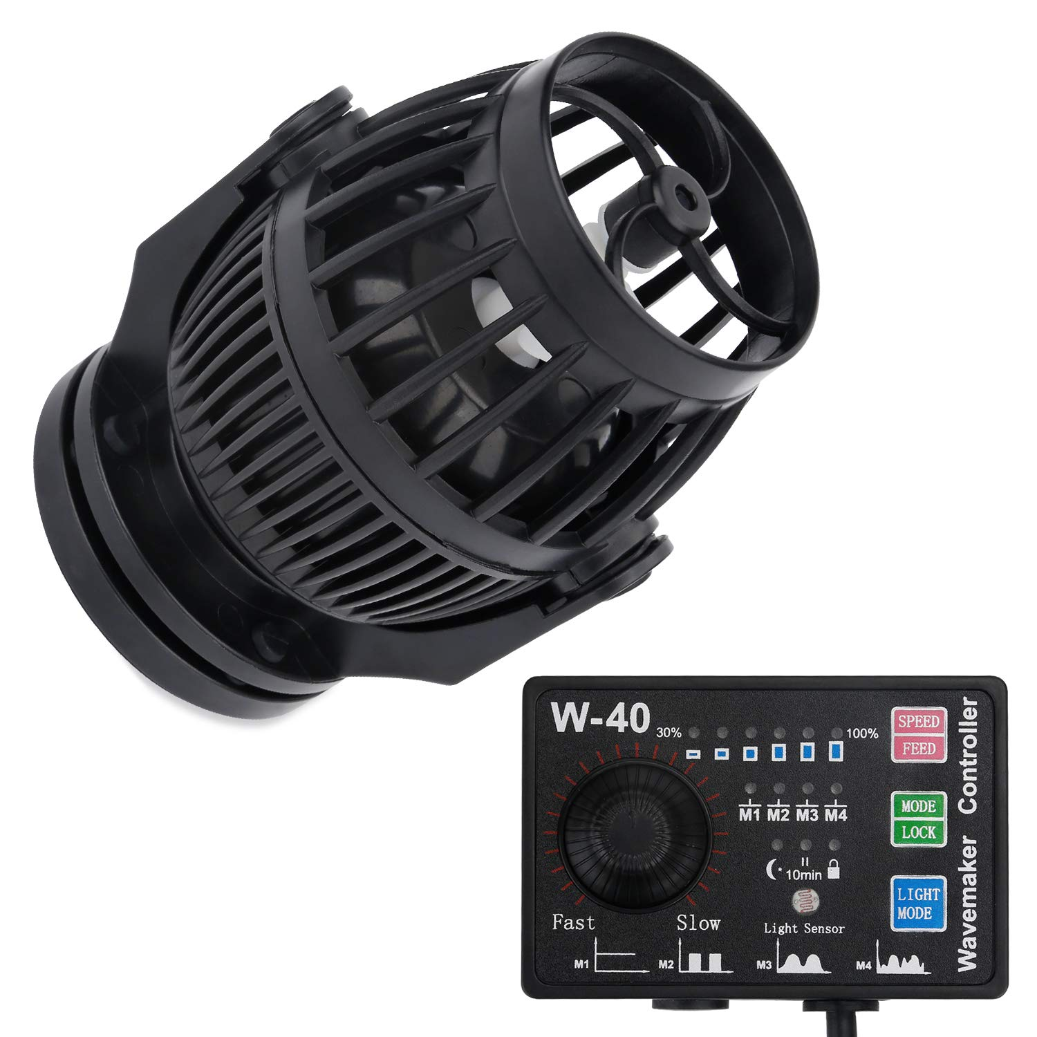 Uniclife 3400 GPH Controllable Wavemaker with W-40 Controller and Magnet Mount for Marine Freshwater Aquarium Circulation Pond by Uniclife
