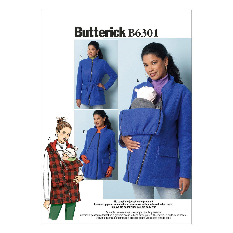 Amazon Com Butterick Patterns B6301 Misses Maternity Vest Coat