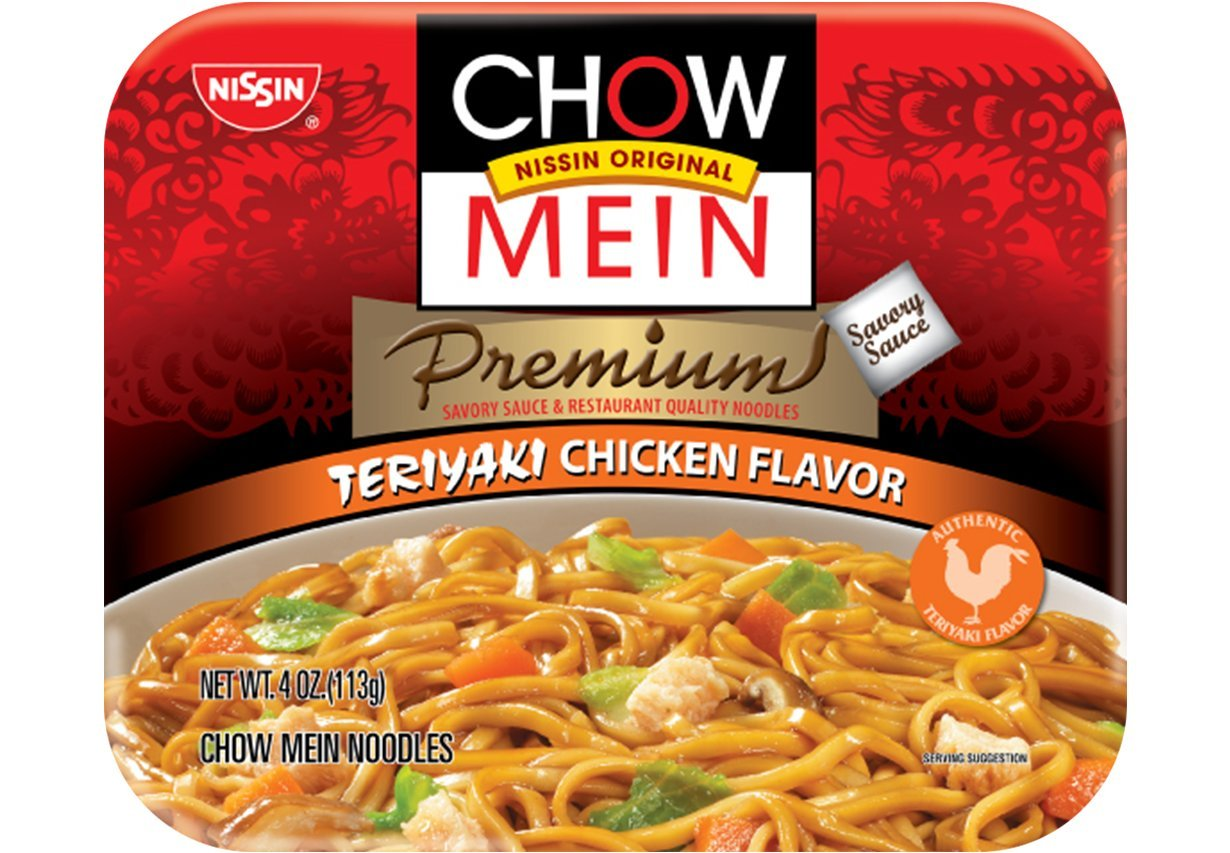 Chow Mein Instant Noodle (Teriyaki Chicken Flavor) - 4oz [Pack of 12]