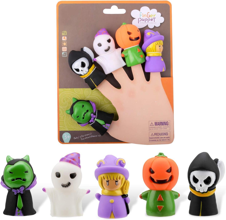 Qpout Halloween Fingerpuppen Set, 5 Stück Character Geist