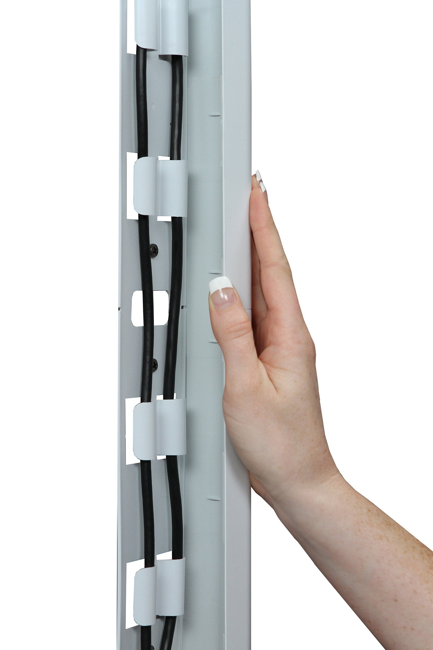 OmniMount OCM On-Wall Cable Management Covers, Paintable, Flat Design to Conceal up to 6 Cables, Set of Three, 3.25'' x 18'' Inches by OmniMount (Image #6)
