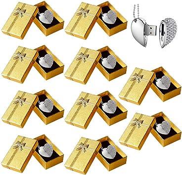 Memorias USB 8GB Corazon 10 Piezas E.T. INSIDE Llaveros Pendrive con Caja de Regalo Cajas Boda Pendrive para Fotografias: Amazon.es: Electrónica
