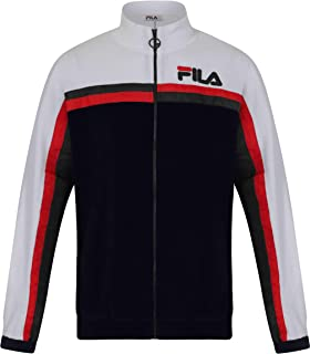 59c89504e4a1 Fila Ethan Zip Front Terry Towelling Track Top Navy/White/Black - Various  Sizes