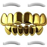 Plaqué or 24k grillz pour la bouche top bottom Hip Hop dents
