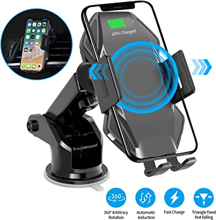 Wireless Charger Car Mount VIEE Car Phone Mount with Auto-Clamping 10W//7.5W Qi Fast Charging Air Vent Phone Holder Dashboard Compatible With iPhone X Xs Max Xr and Samsung Galaxy S8 S9 S10 Note 9