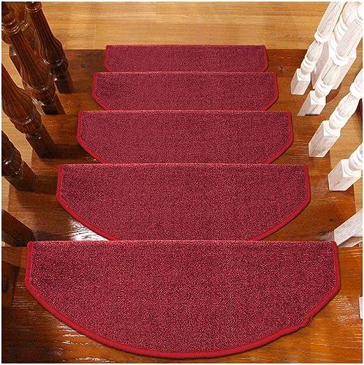Alfombras de Escalera Alfombras De Peldaños Semicirculares Esteras 24x65cm Escaleras Escaleras Almohadillas Antideslizantes Floor Runner (Color : E, Tamaño : 1 Piece Set): Amazon.es: Hogar