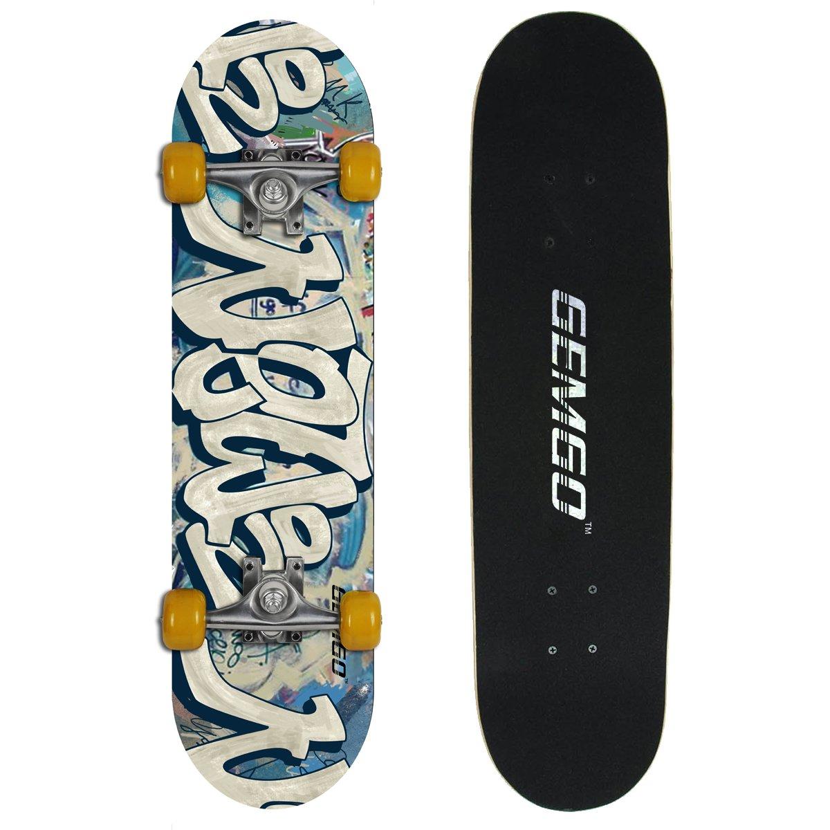 Gemgo capas de arce skateboards robusto con el patrón del Doodle