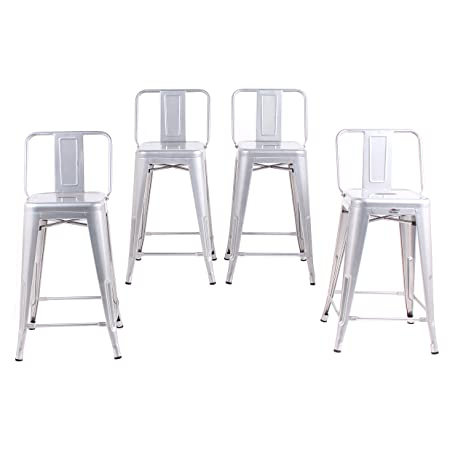 Surprising Amazon Com Buschman Set Of 4 Grey 24 Inch Counter Height Forskolin Free Trial Chair Design Images Forskolin Free Trialorg