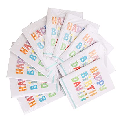 10 Assorted Happy Birthday Gift Card 3 Folded Blank Music Greeting For Kids Girls And