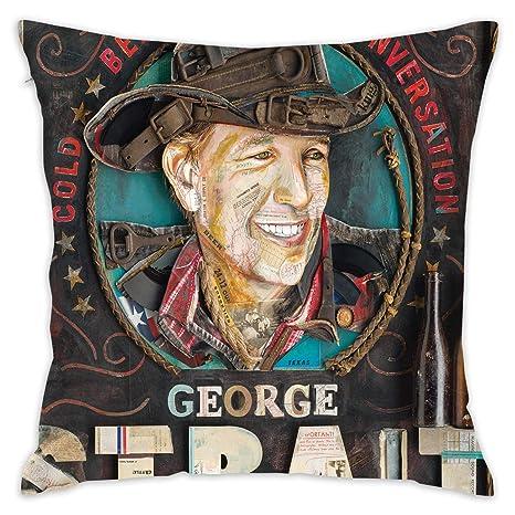 Amazon.com: George Strait - Cojín de lino y algodón para ...