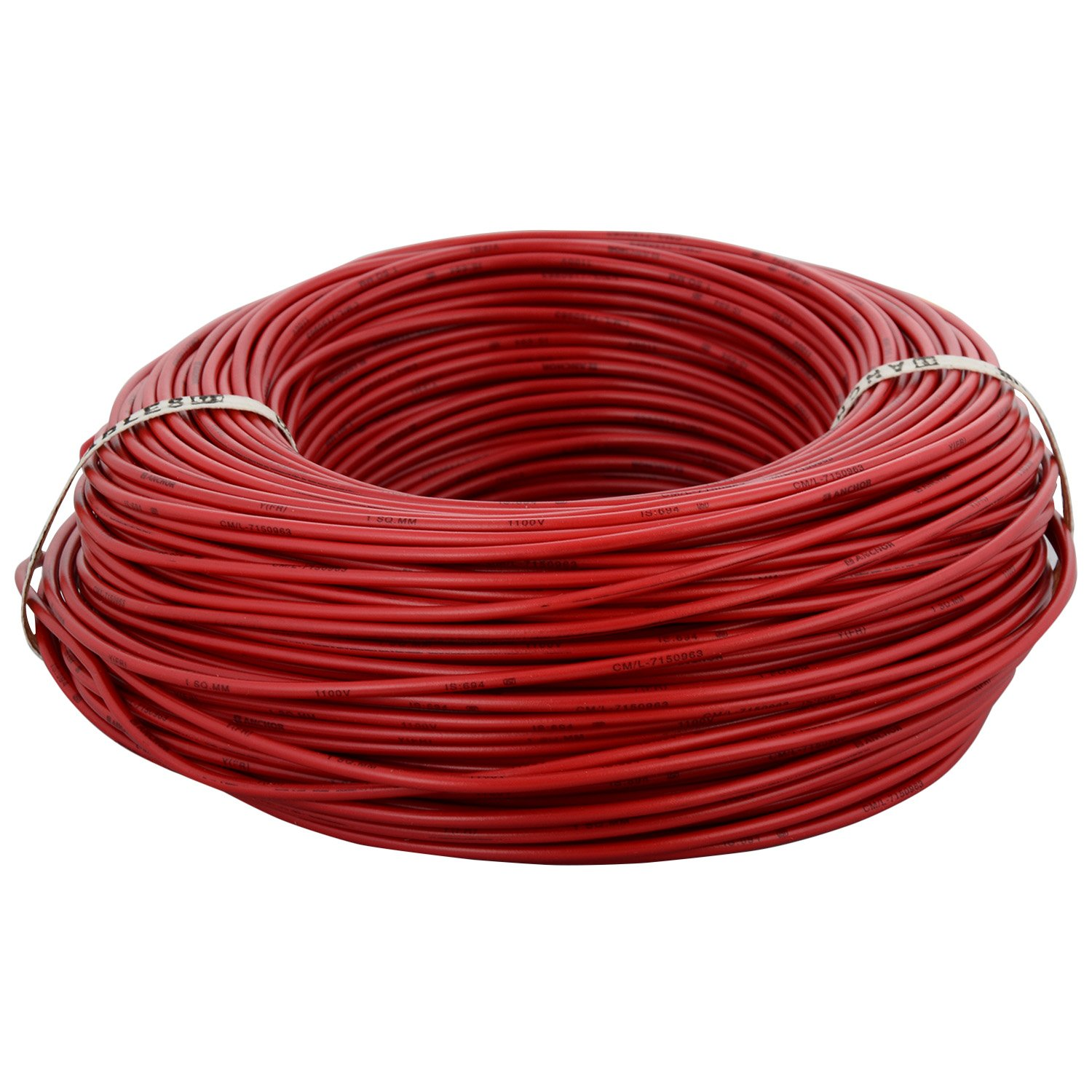 Anchor Insulated Copper Pvc Cable 10 Sq Mm Wire Red Electrical House Wiring