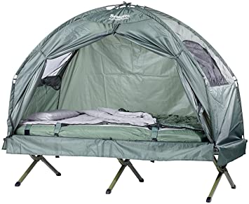 Semptec 4 in 1 Tent with Mattress C&ing Bed and Sleeping Bag  sc 1 st  Amazon UK : tent with bed - memphite.com