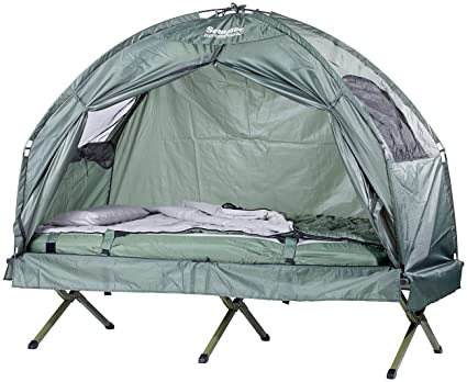Semptec Urban Survival Technology Zeltliege 4in1 Zelt Inklusive Schlafsack Matratze Campingliege Wasserdicht Feldbett