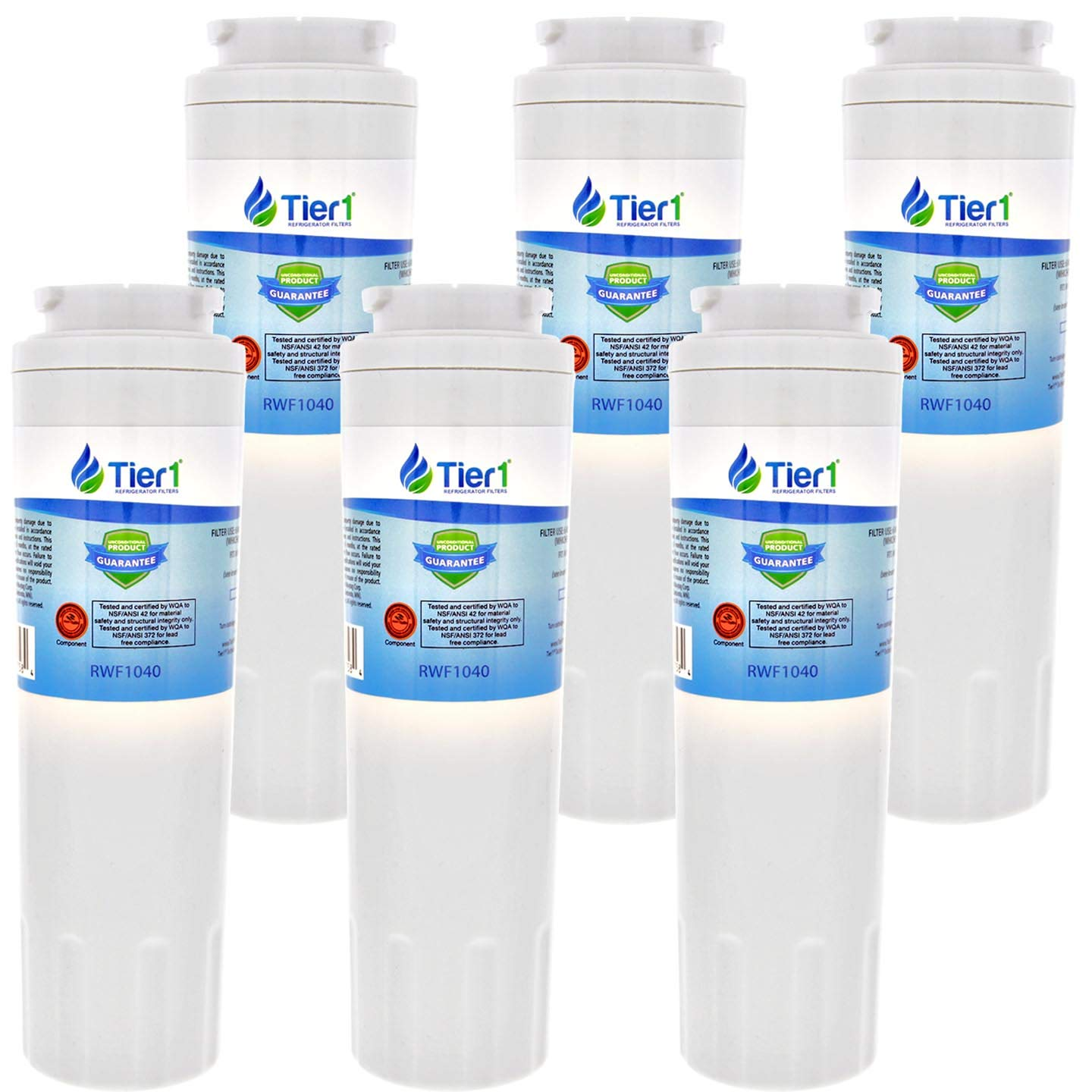 Tier1 Replacement for Maytag UKF8001, EDR4RXD1, Whirlpool 4396395, PUR, Jenn-Air, Puriclean II, 469006, 469005 Refrigerator Water Filter 6 Pack