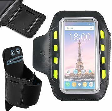 DURAGADGET Brazalete Deportivo Reflectante con Luces led de Alta Visibilidad para Smartphone OUKITEL K5000: Amazon.es: Electrónica