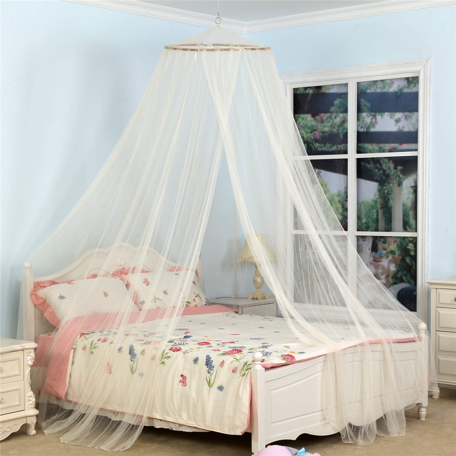 Amazoncom South To East King Size Bed Canopy, Ivory Color