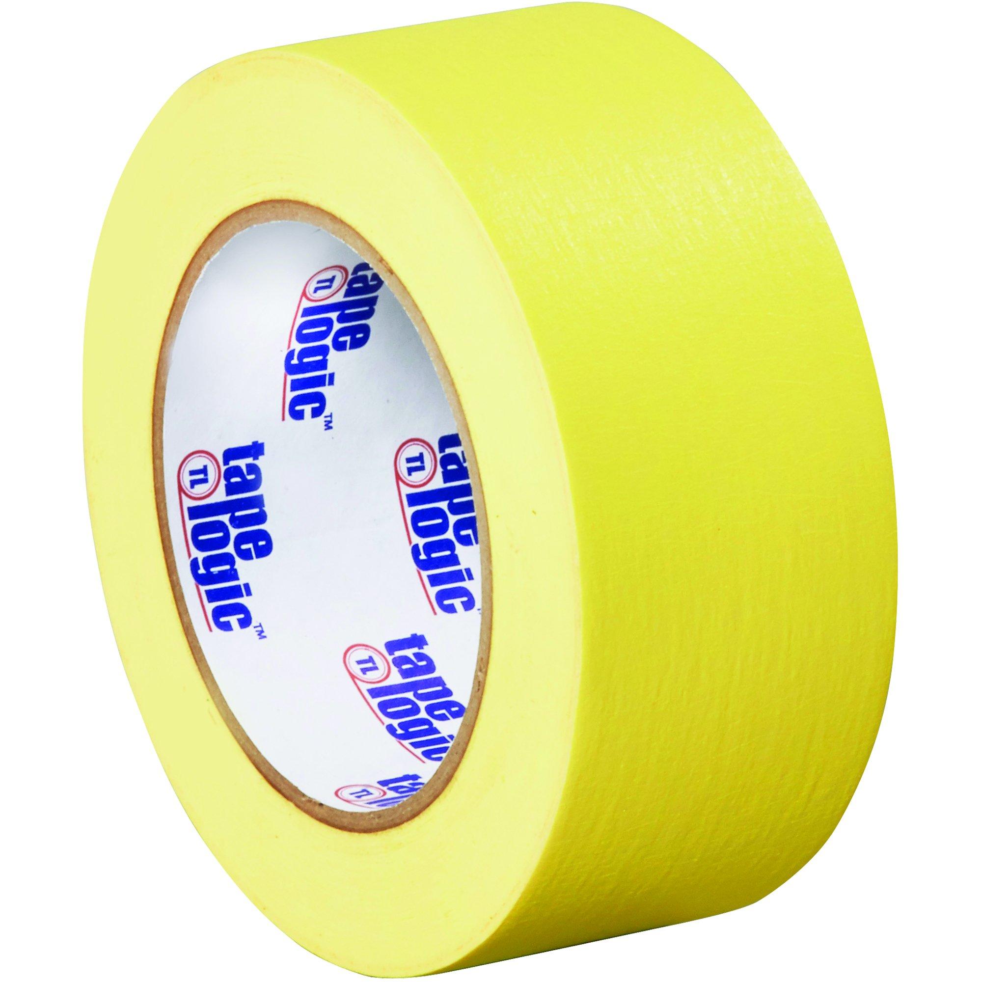 BOX USA BT937003Y Tape Logic Masking Tape, 2'' x 60 yd., Yellow (Pack of 24)