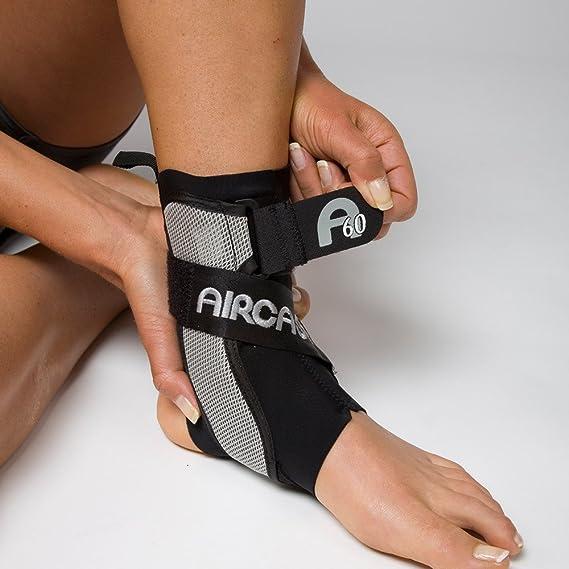 DJO 02TMR AIRCAST A60 Ankle Support Black Women Size 9-13 Men Size 7.5-11.5 Medium Right