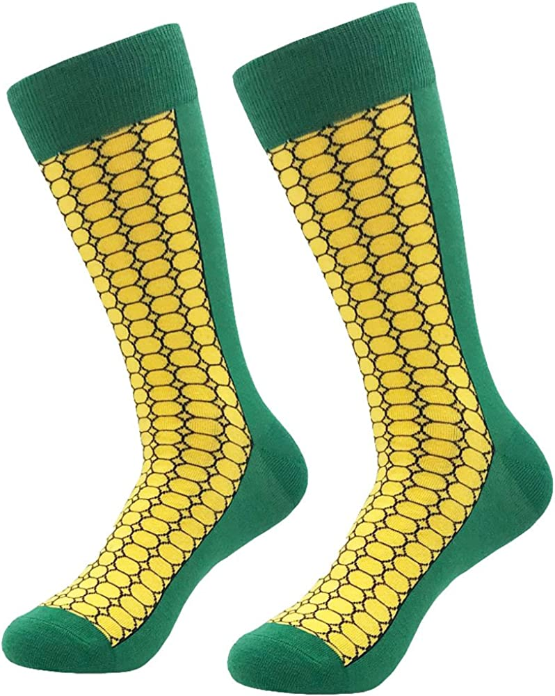 KoolHour Men's Novelty Cool Crazy Pattern Funny Fashion Cotton Comfortable Dress Casual Crew Socks,Multi-Pack