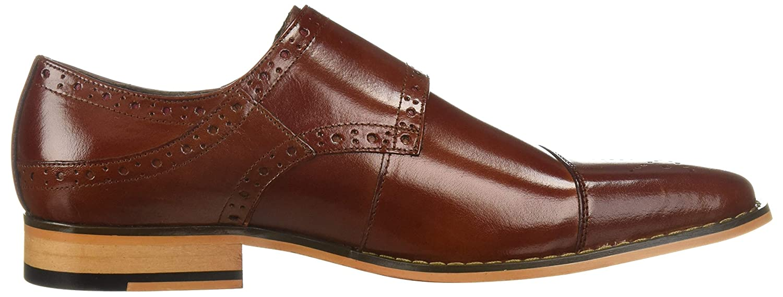 Stacy Adams Tayton Men/'s Cognac Double Monk Strap Cap Toe Dress Shoes 25194-221