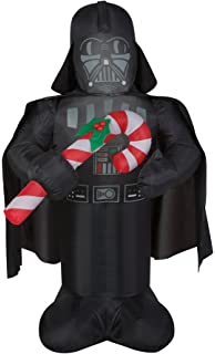airblown inflatables star wars darth vader with candy cane inflatable - Star Wars Inflatable Christmas Decorations