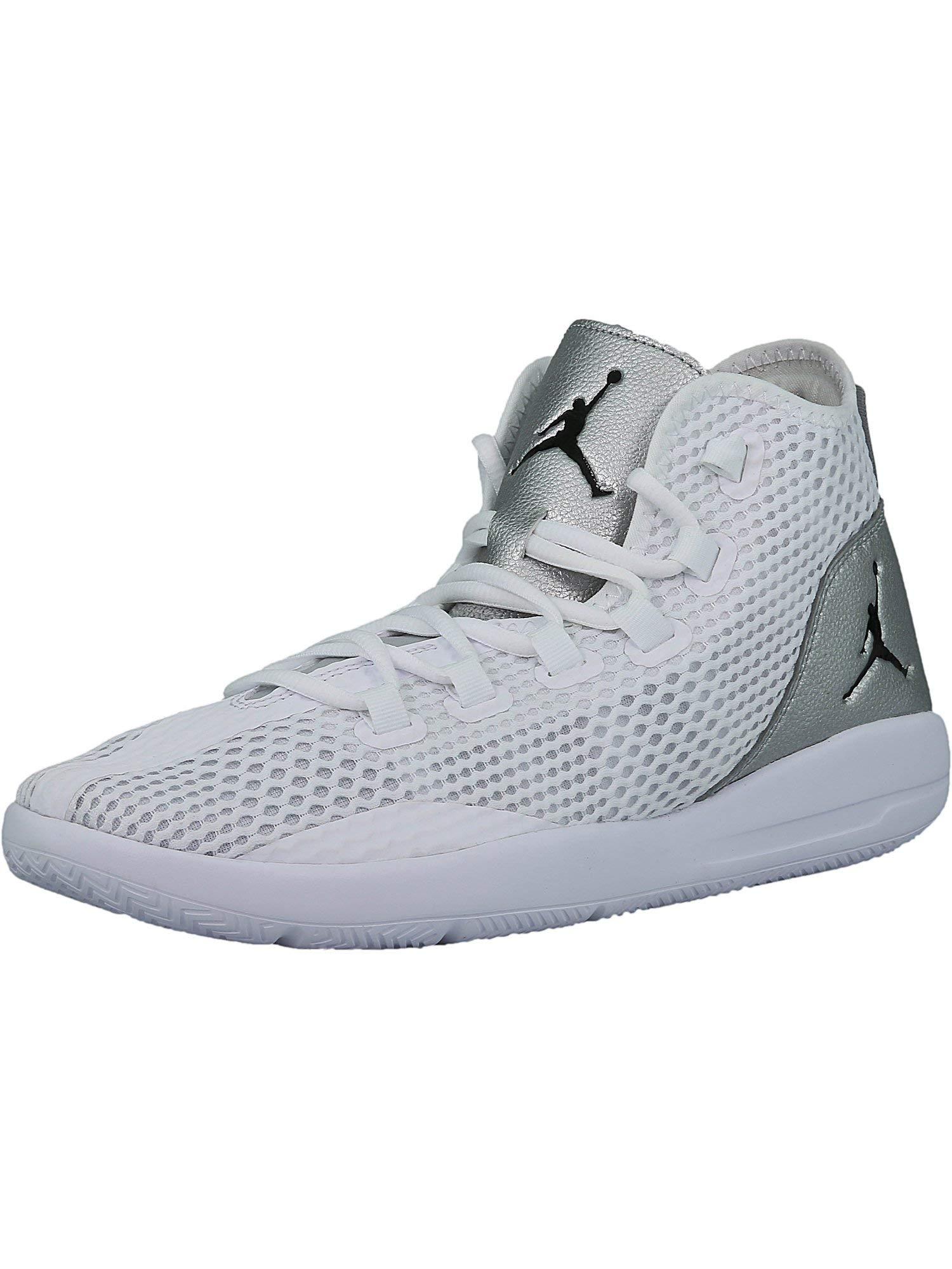 a8c5bc2c7e3 Galleon - Nike Mens Jordan Reveal White Black-Silver Fabric Size 10