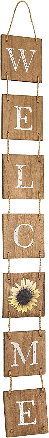 Welcome Sign for Front Door, Rustic Home Decor, Hanging Decoration