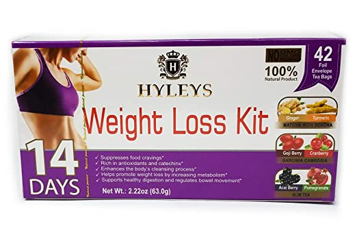 Hyleys 14 Day Weight Loss Kit 42 sobres de papel de aluminio ...