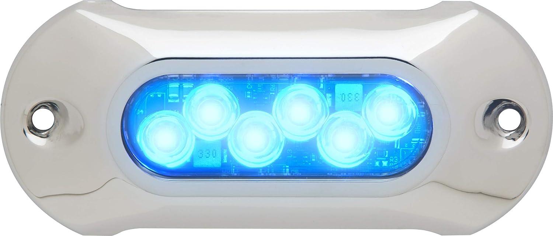 """Attwood Boat Marine LightArmor Underwater 5/"""" Light 6 LED Green 12V 65UW06G-7"""