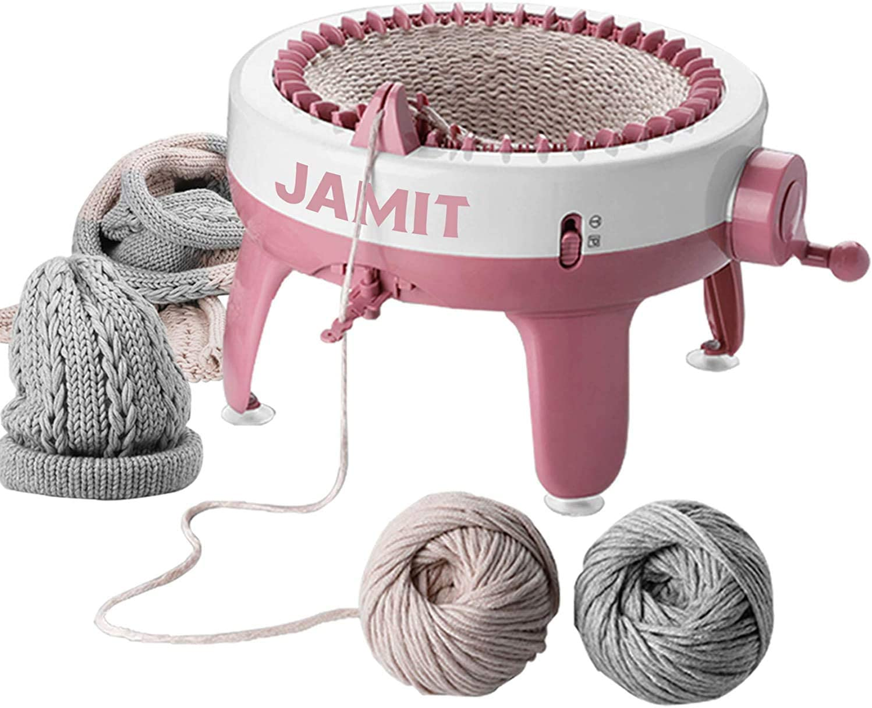Knitting Board Rotating Double Knit Loom Machine Knitting Loom Machines Weaving Loom Kit for Adults and Kids Knitting Machine 40 Needles Smart Weaving Loom Knitting Round Loom