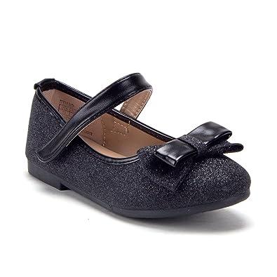 Amazon.com: Bebé niñas Mary Jane Glitter bailarina Zapatos ...